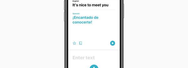 Apple présente sa future application Traduire.