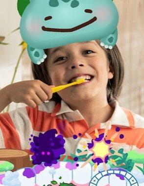 Un Pokémon virtuel pour encourager les enfants à se brosser les dents