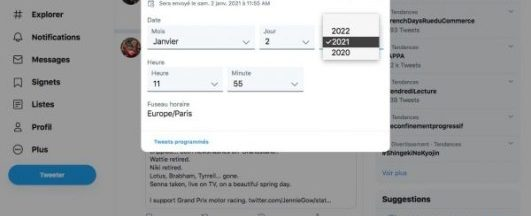 Twitter, le reseau social propose la programmation des tweets
