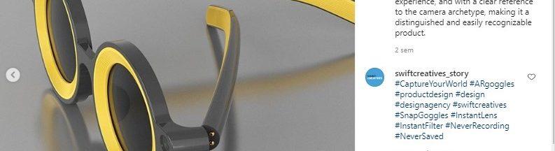 Filtres Snapchat grace aux lunettes du studio de design Swift Creatives