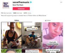 L'éducation musicale prônée sur TikTok avec #MusicSaves