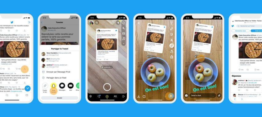 Snapchat accueille désormais les tweets !